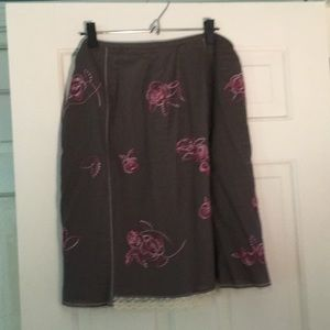 J.Jill floral embroidered skirt, 14P.